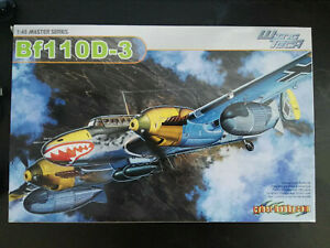 Messerschmitt-Bf-110-D-3-Dragon-Scale-1-48-Kit-5555-Wing-Tech-Bausatz