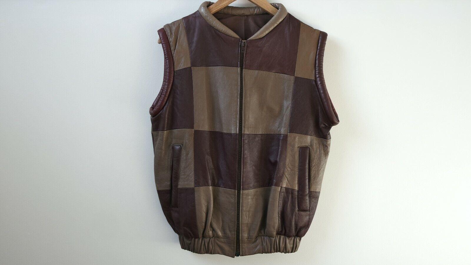 damen braun Leather Vest Größe S - Pre-Owned