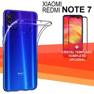 Xiaomi-Redmi-Note-7-Protector-3D-cristal-completo-vidrio-templado-negro-funda