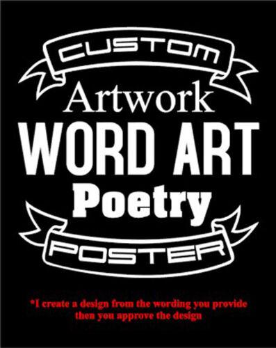 Custom Design Personalized 8 x 10 Cardstock Poster