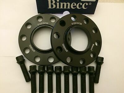 ALLOY WHEEL SPACERS X 2 FOR BMW E81 E82 E87 E88 1 SERIES 10mm BS BIMECC M12 72.6