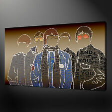 OASIS MUSIC BAND TYPO CANVAS WALL ART PICTURES PRINTS 20 x 16 Inch WALL ART