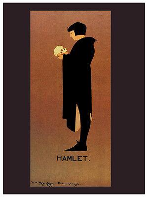 Wall Art Decoration.3218 Graphic Design Hamlet Nouveau vintage POSTER Skull