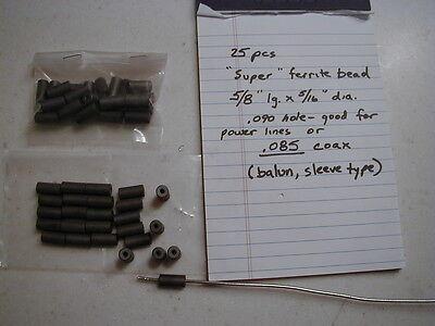fits .085 Hardline /& large wires 25 pcs. Large Ferrite bead