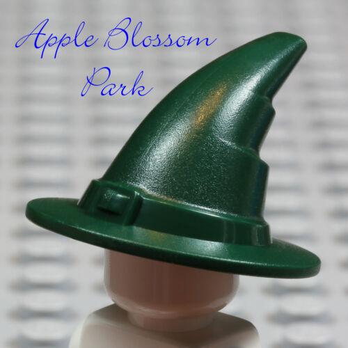NEW Lego Minifig DARK GREEN WIZARD HAT Castle Kingdom Sorcerer Witch Head Gear