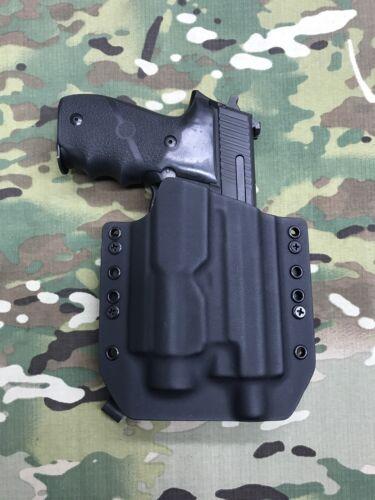 Black Kydex Holster Sig Sauer P220R Threaded Barrel Streamlight TLR-2