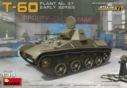 Miniart 35224 1:35th scale  T-60 Plant No 37 Early with Interior