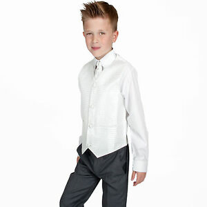 aa1b89866 Boys Suits 4 Piece Grey Ivory Suit Wedding Page Boy Baby Formal ...