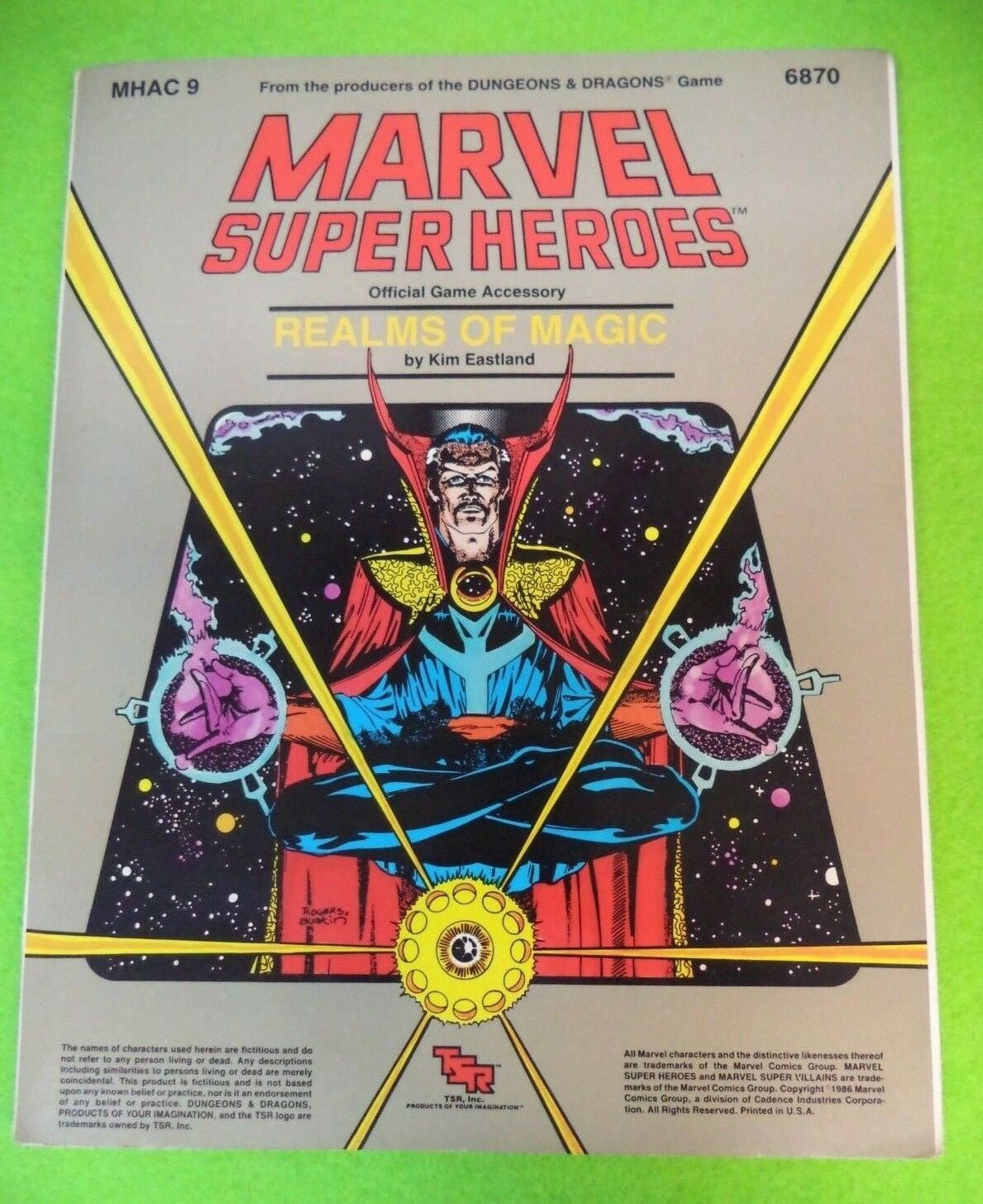 MARVEL SUPER HEROES realms of magic by KIM EASTLAND  MHAC 9 6870  MS1