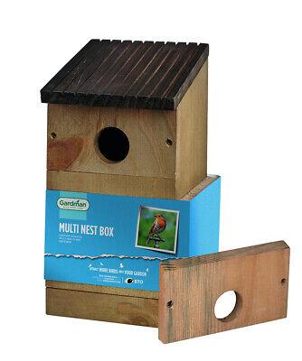 Gardman Wild Bird Garden Outdoor Wooden Small Robin Nest Box House Shelter