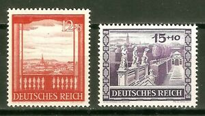 DR-Nazi-3d-Reich-Rare-WW2-Stamp-Hitler-View-of-Vienna-Castle-Residence-Sculpture