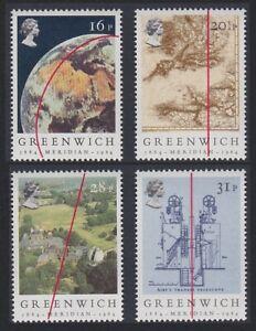Gran-Bretana-Meridiano-de-Greenwich-astronomia-4v-Estampillada-sin-montar-SG-1254-1257-SC-1058-1061