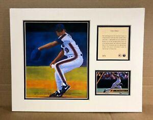 New York Mets Bret Saberhagen 1993 Baseball 11x14 MATTED Kelly Russell Print
