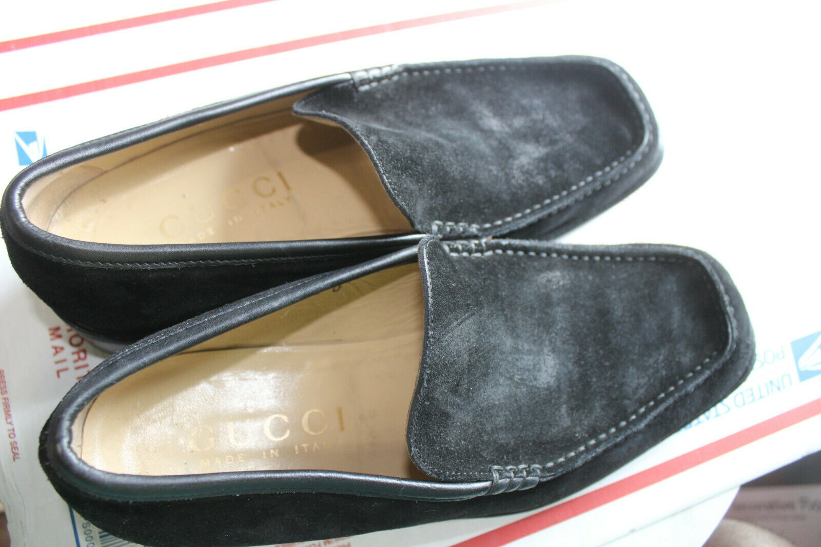 GUCCI MEN'S BLACK SUEDE LEATHER  LOAFERS SIZE  10 - image 11