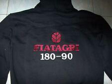 NUOVO FIATAGRI 180-90 FAAN con Cappuccio Maglione Hoodie Nero Haagse Jacket Giacca Vest