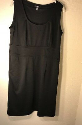 Spandex Basic Womens George Rayon L12 14 Sheath Sleeveless Dress Black Poleister Oq5H5Bx8