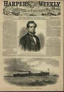Iron-Clad-Frigate-Ironsides-Navy-Battleship-1862-great-old-print-for-display