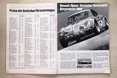 Berichte & Zeitschriften Automobilia Anzeige/werbung Renault Alpine A 110 Bergmeister 1969