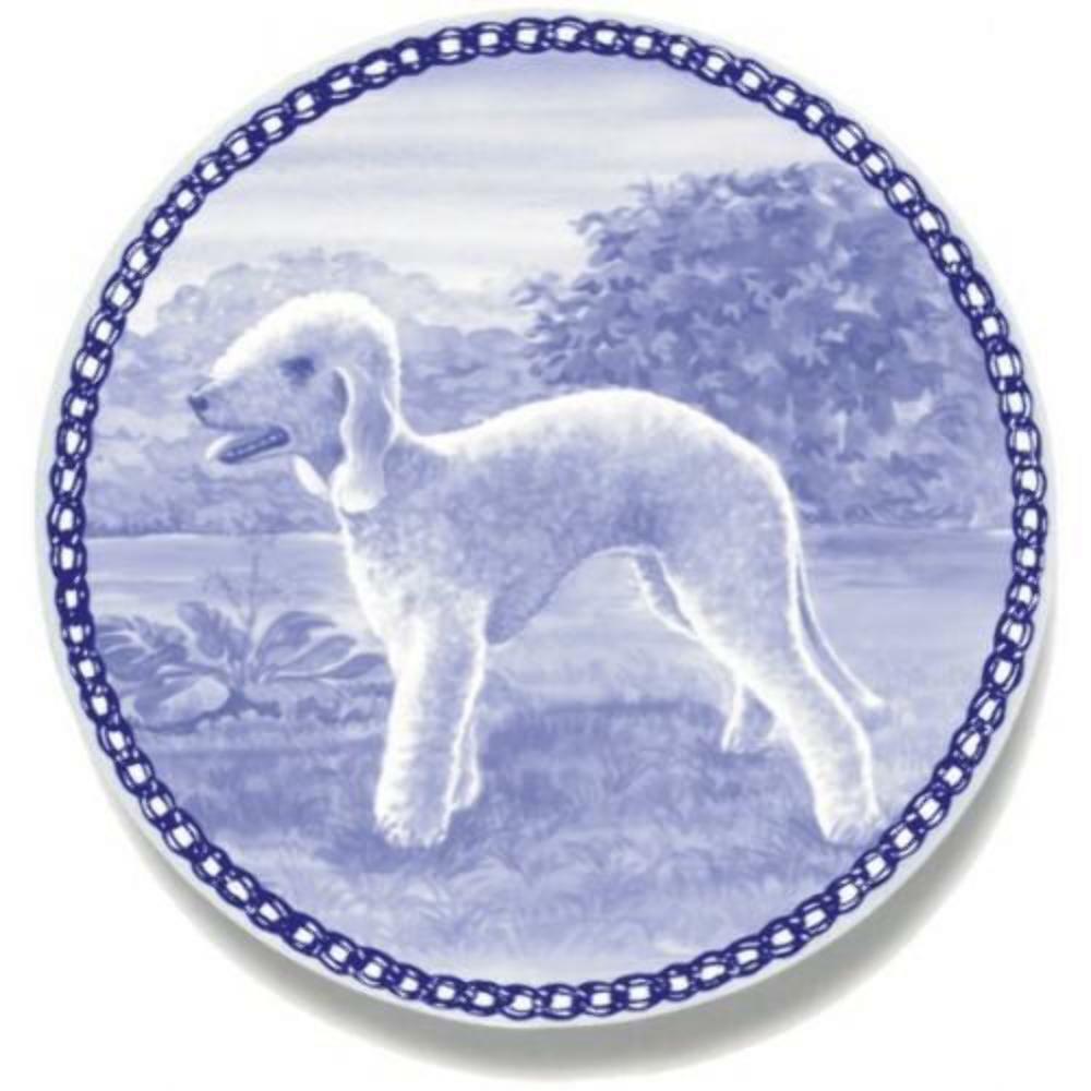 Bedlington Terrier - Dog Plate made in Denmark from the finest European Porcelai