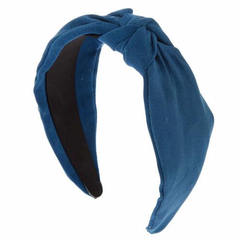 Claire/'s fille nouées en daim bandeau-bleu