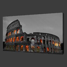 "COLOSSEUM ROMA amphitheatre CANVAS Wall Art Foto Stampa 20 ""x16"" gratis UK P & P"