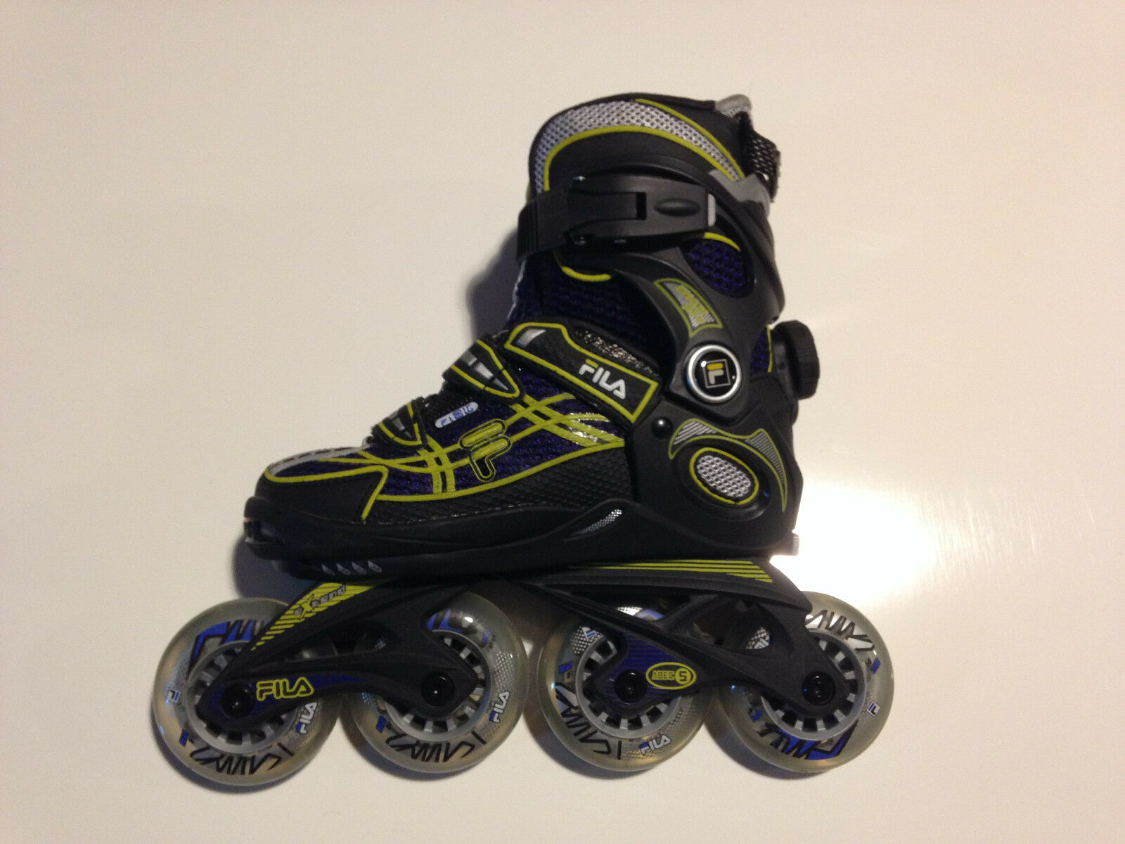 Fila Wizy Pro Boys Jungen Fitness Inline Skates Gr. M (32-35) verstellbar  | Schöne Farbe
