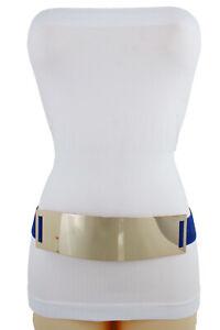 Mujer Negro Plata Leopardo Cinturón de Moda Venda Elástica Hip Cintura Alta