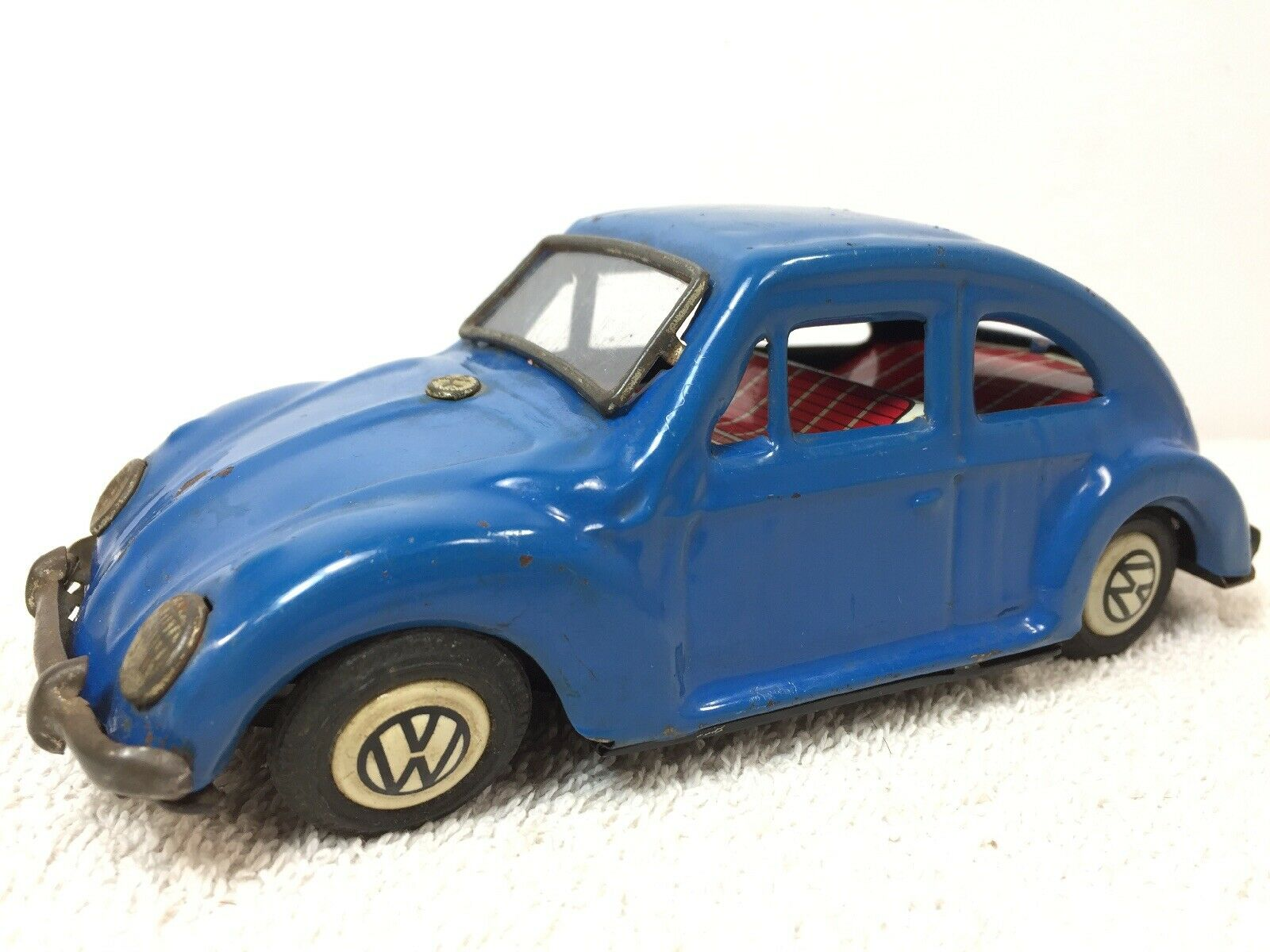 Bandai Volkswagen 1200 Bug VW bluee Japan Car For Parts Not Working Friction