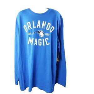 NBA-Orlando-Magic-Long-Sleeve-T-Shirt-5XL-Blue-Cotton-Basketball-NWT