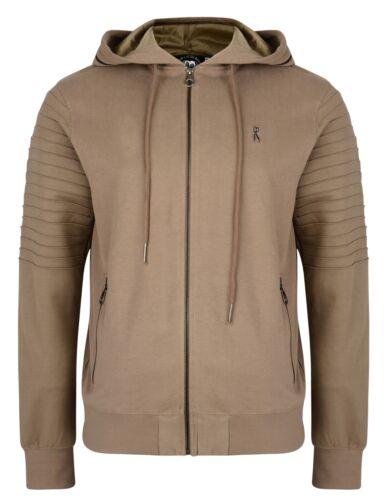 Ringspun New Men/'s Full Zip Hooded Sweatshirt Fleece Hoodie Slim Fit Pendle Top