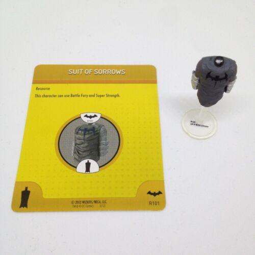 Heroclix Batman set Suit of Sorrows #S101/R101 Utility Belt Costume w/card!
