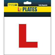 Genuin 2 x L Plate Fully Magnetic Exterior Car New Learner Secure /& Safe