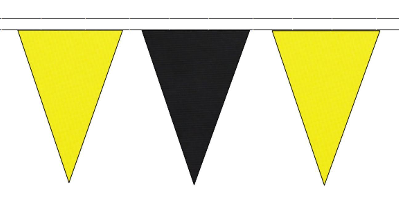 JAUNE TRIANGULAIRE & NOIR TRIANGULAIRE JAUNE Banderole DRAPEAUX 50M avec 120 Drapeaux 0c7036