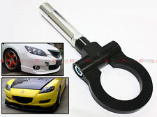 BLACK JDM FOLDING SCREW ON TYPE FRONT/REAR TOW HOOK FOR MAZDA CX5 RX8 MAZDASPEED