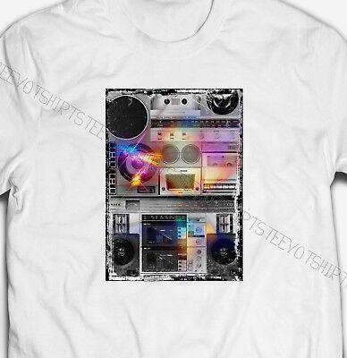 80S MUSIC RETRO STEREO HIFI 1980S EIGHTIES MENS /& WOMENS FIT T-SHIRT TEE TOP