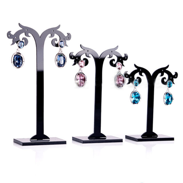 3 Pcs/Set Acrylic Earrings Display Stand Jewelry Organizer Holder Removable b
