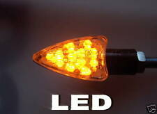 ►2X LED ARROW KLARGLAS SCHWARZ BLINKER KAWASAKI Z750S,Vulcan 800,Z1000,ZX1100F1