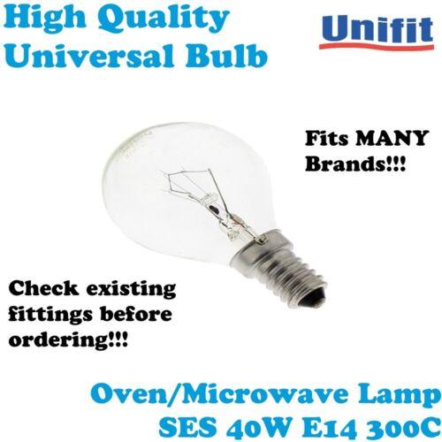 Bosch Universal UNIFIT four micro-ondes Lampe SES 40 W E14 300 C