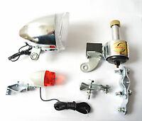 Fahrradbeleuchtung Fahrradlicht Dynamo Set Rücklicht Vorderlicht Lampe Neu Set
