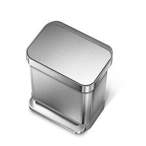 simplehuman-Rectangular-Step-Can-Garbage-Bin-Stainless-Steel-30L-CW2028