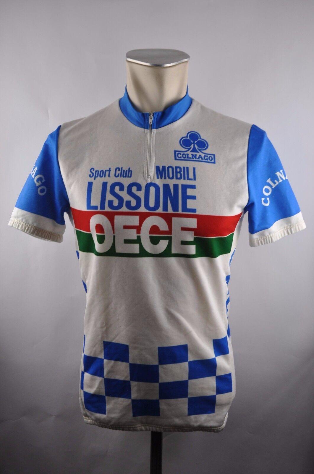 Mobili Lissone Oece vintage cycling jersey Bike Rad Trikot Gr. M 51cm U5