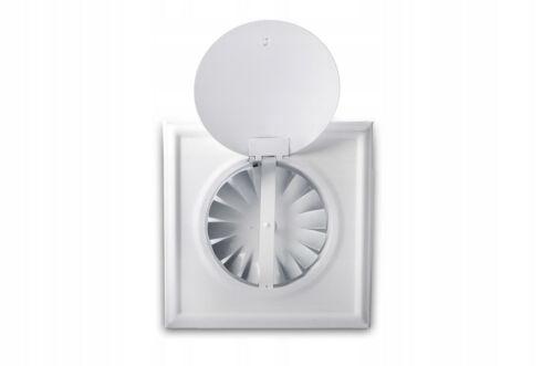 Lüftungsgitter Lamellengitter Lüftungsgitter mit Klappe+Ventilator 17,3x17,3 cm