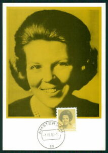 Amical Pays-bas Mk 1982 La Reine Beatrix Queen Maximum Carte Maximum Card Mc Cm Ek81-afficher Le Titre D'origine