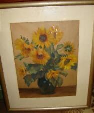 "Johanna Luise Groppe ""Blumen"" gr. Aquarell 179/13097"
