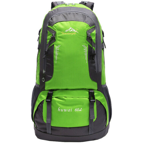 Extra Large 60L Nylon Travel Hiking Outdoor Backpack Camping Climbing Rucksack