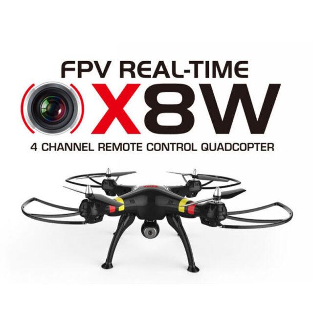 New Black X8W Explorers Drone WiFi FPV RC Quadcopter 6-Axis 4CH Gyro Camera RTF
