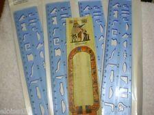 Azul Egipcio jeroglíficos Abecedario Stencil Papyrus Compre 2 obtenga un tercer Libre