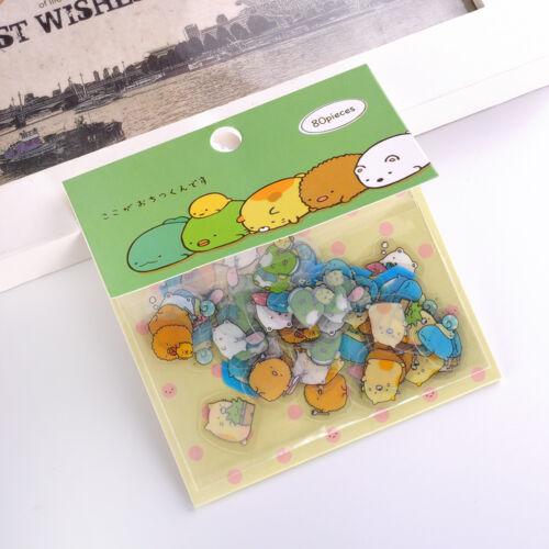 80pcs DIY Cute Cartoon PVC Kawaii Love Sticker For Diary Scrapbooking Cellphone