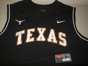 quality design f0dc0 83c03 Nike Texas Longhorns Baseball Jersey NEW Authentic Team ...