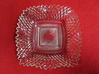 Antique Vintage Crystal Glass Candy Dish Bowl Ornate and Beautiful unique plate